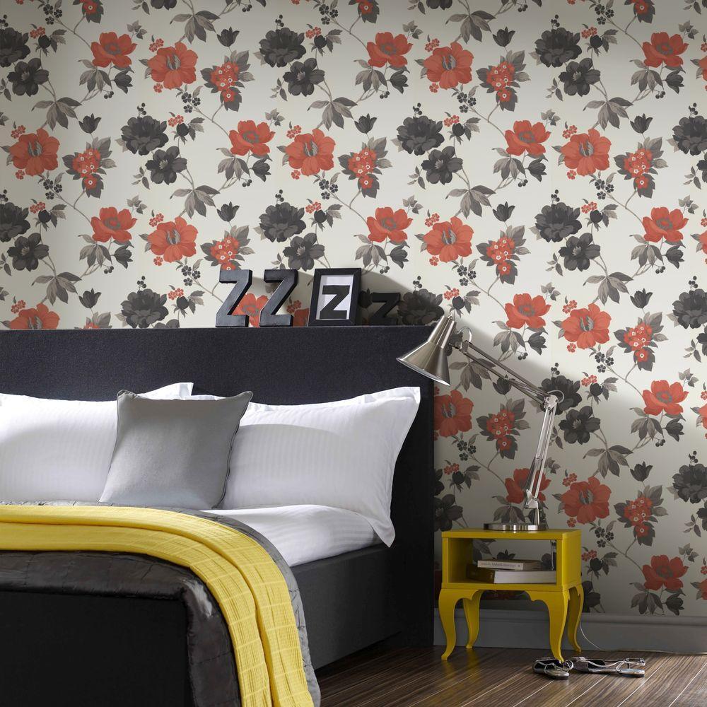 Graham & Brown Eden Orange Removable Wallpaper
