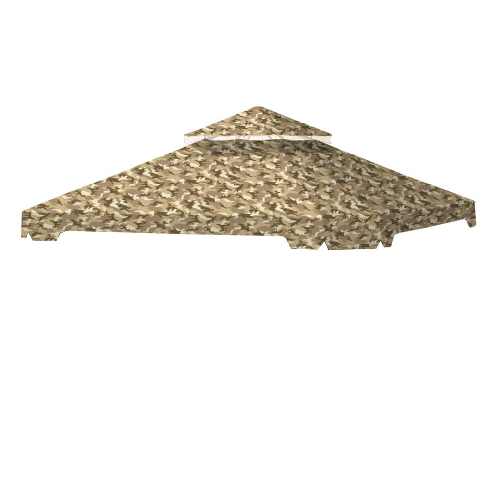 Standard 350 Camo Sand Replacement Canopy Top Cover Set for 10 ft. x 10 ft. Cottleville Gazebo
