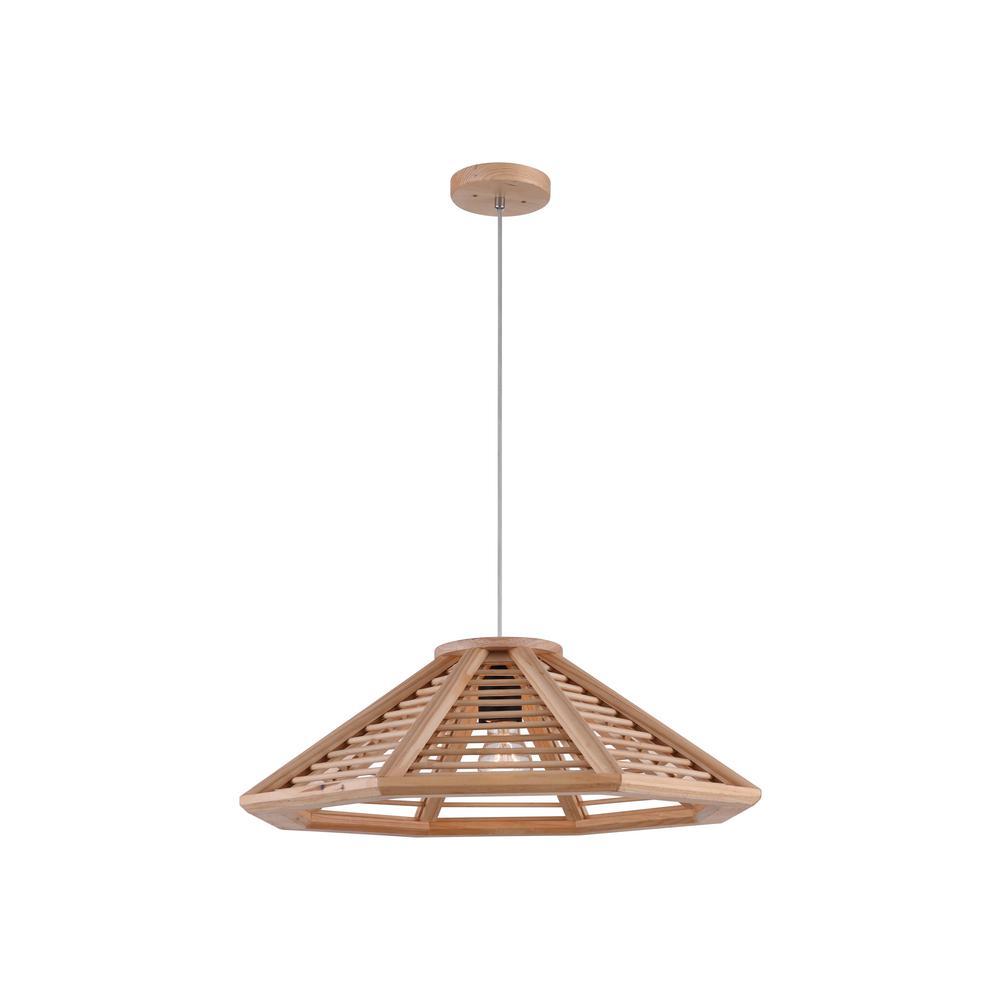 Crystal world lante 1 light natural wood chandelier for Natural wood chandelier