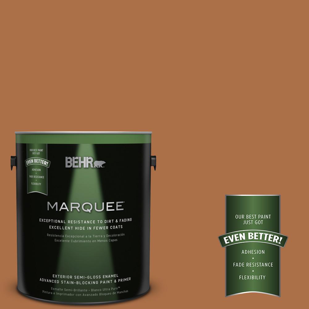 1-gal. #260D-7 Copper Mountain Semi-Gloss Enamel Exterior Paint