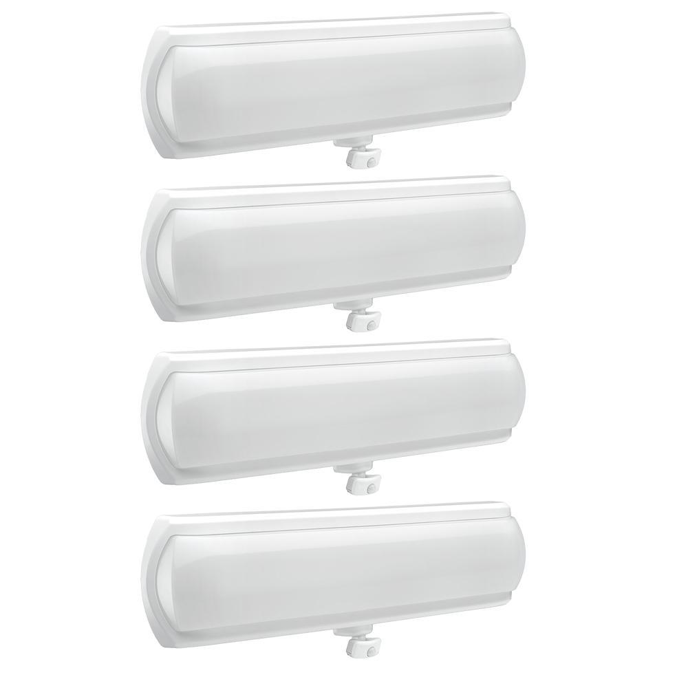 18 in. LED Flush Mount Closet Light 270 Degree Adjustable Motion Sensor and Hold Times 1200 Lumens 4000K (4-Pack)