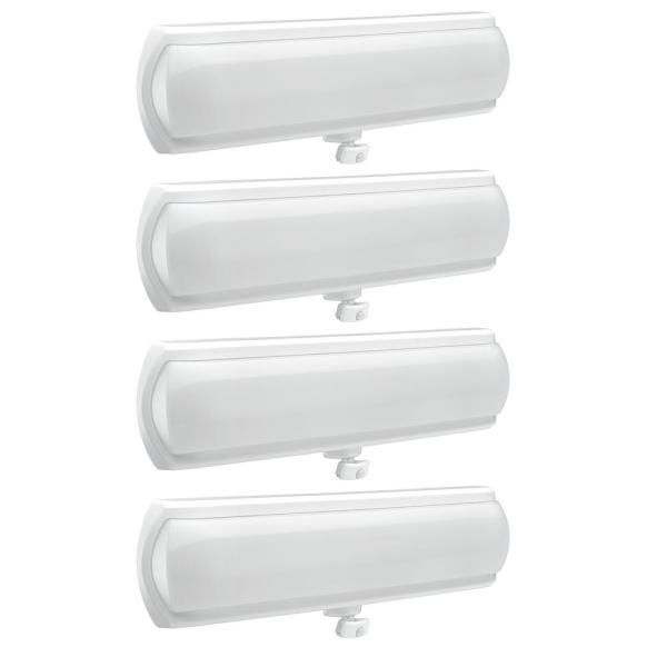 18 in. LED Flush Mount Closet Light 270 Degree Adjustable Motion Sensor and Hold Times 1200 Lumens 4000K (4-Pack)