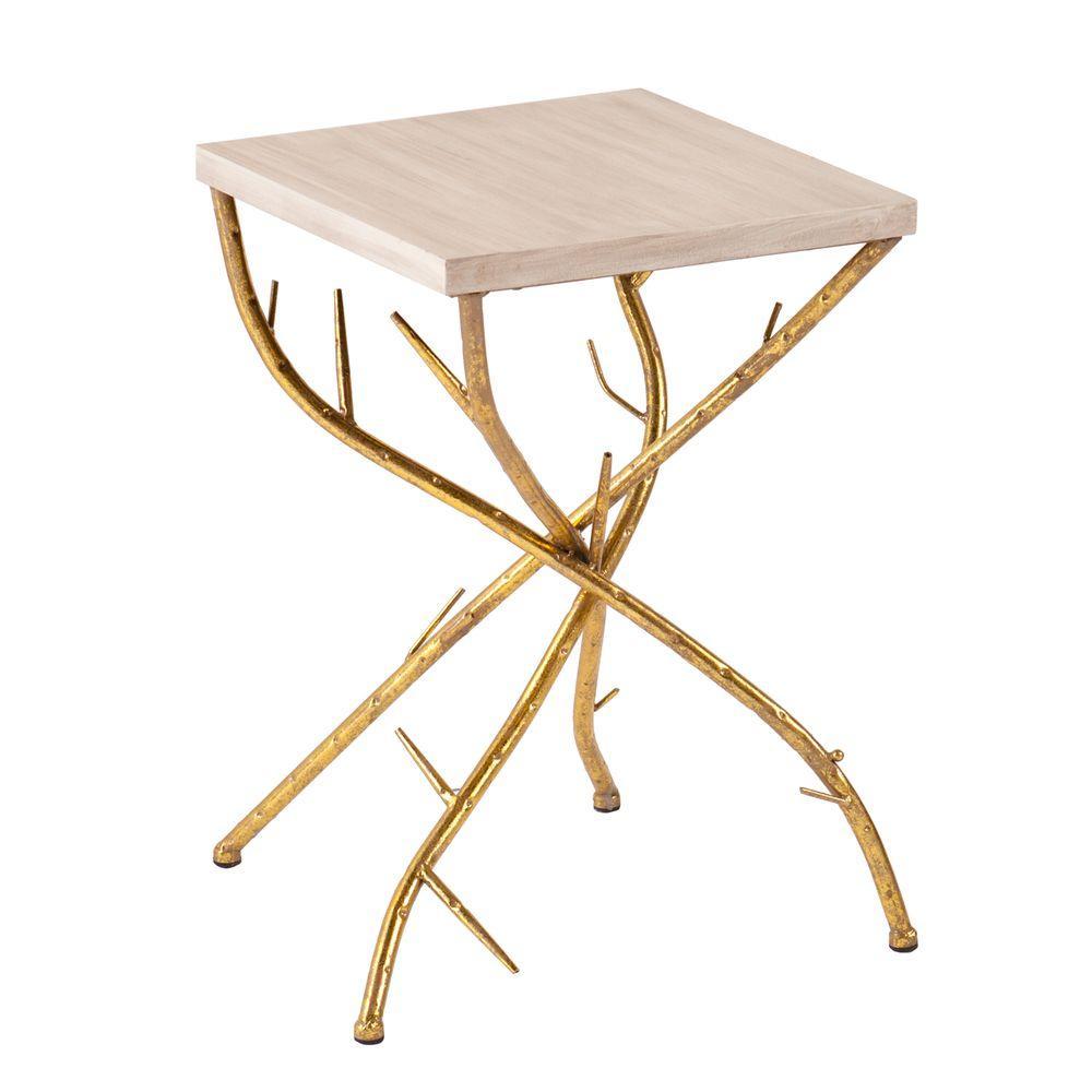 Southern Enterprises Gulliver Metallic Gold End Table