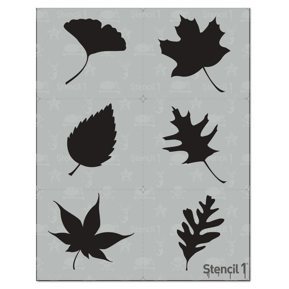 Stencil1 Leaves Silhouette Stencil (6-Pack)