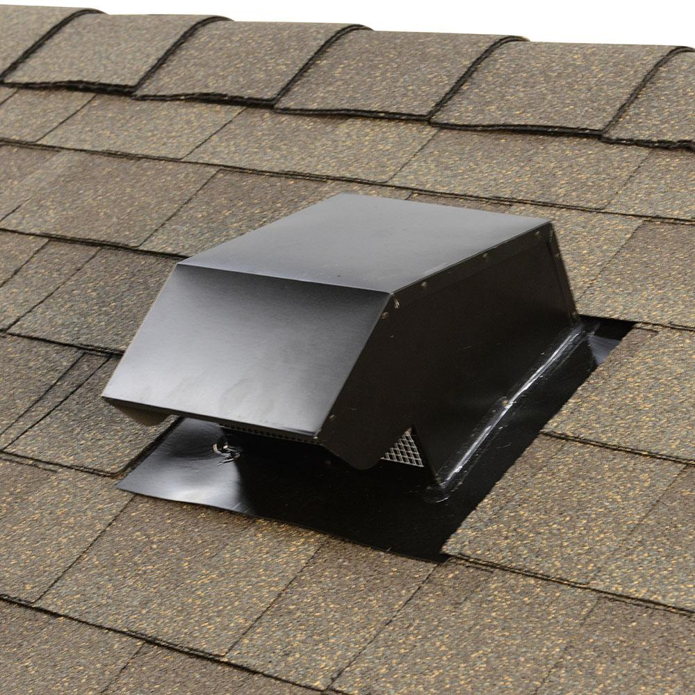 Master Flow 6 In Goose Neck Vent Roof Cap In Black Gnv6bl The Home Depot