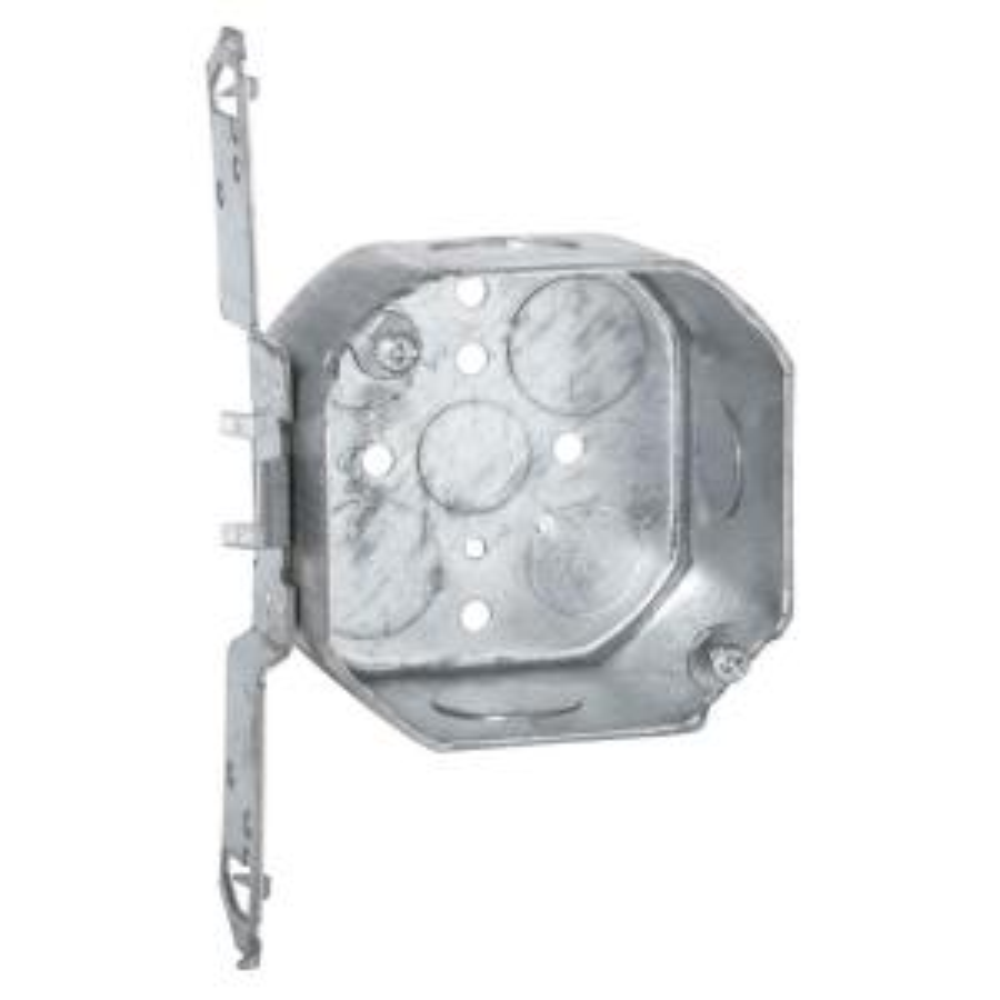 RACO 4 inch Octagon Box, 2-1/8 inch Deep with 1/2 & 3/4 inch KO