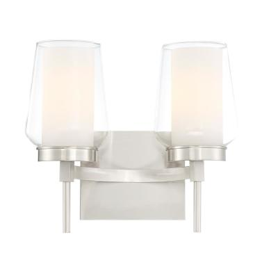 Manchester 2-Light Satin Nickel Wall Sconce