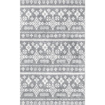 Adamas Tribal Gray 5 ft. x 8 ft.  Area Rug