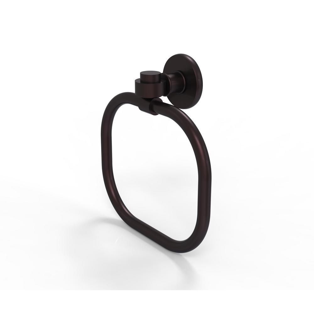 Allied Brass Continental Collection Towel Ring in Antique Bronze