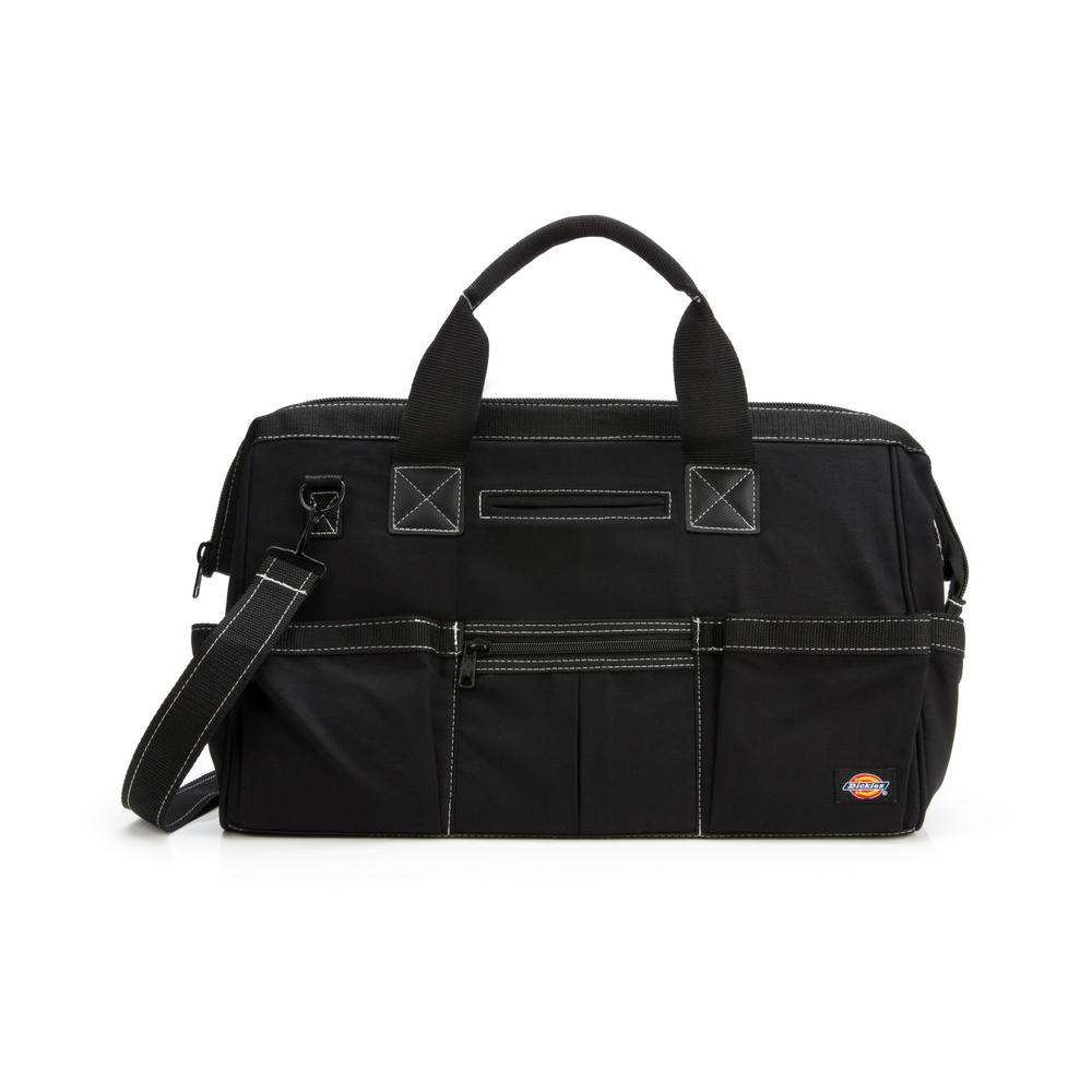 18 in. Soft Sided Construction Work Tool Bag in Black