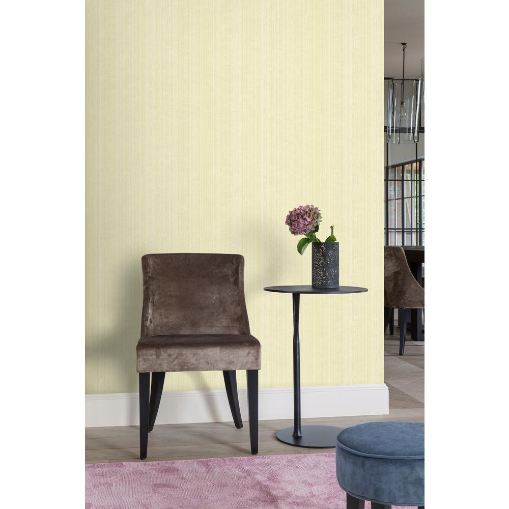 Gold Textile Plain Wallpaper