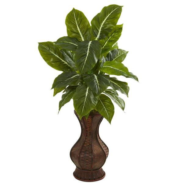 Nearly Natural Indoor 31 in. Evergreen Artificial Plant in Decorative Planter