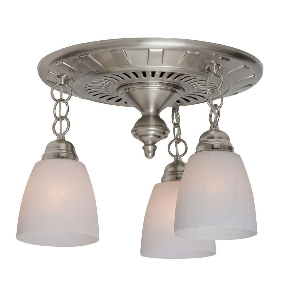 Hunter Garden District Decorative Brushed Nickel 70 CFM Ceiling Bathroom Exhaust Fan by Hunter