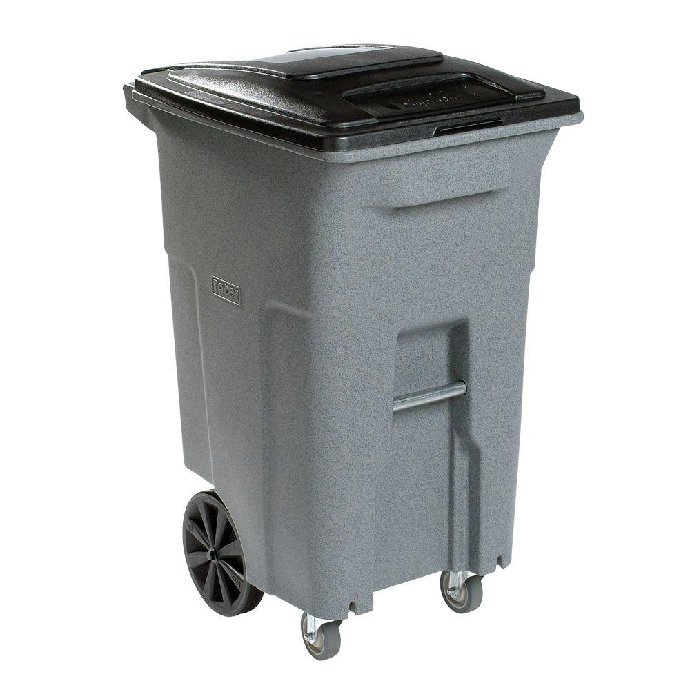 Image Result For Outdoor Trash Cans With Attached Lids