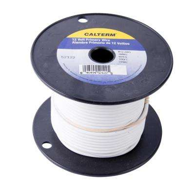 100 ft. 12 AWG Primary Wire Spool, White (Case of 5)