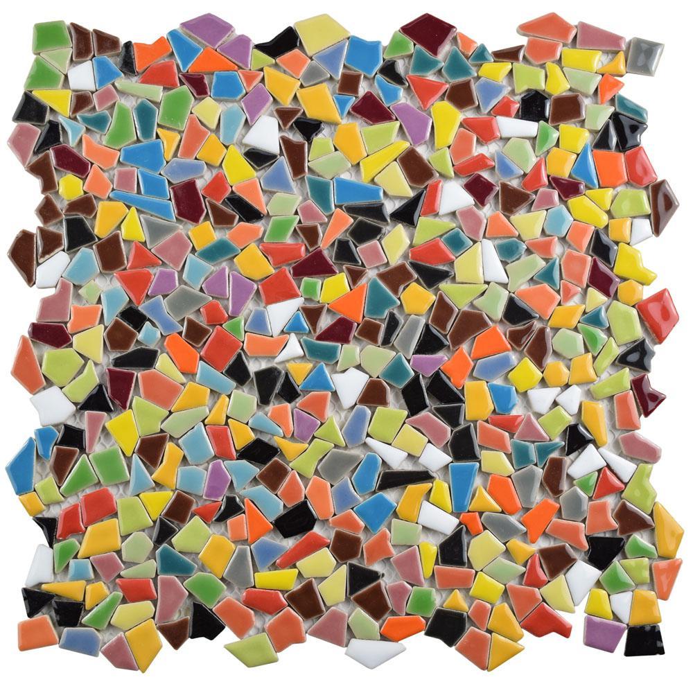 Jazz Multi 11-1/4 in. x 11-1/4 in. x 5 mm Ceramic Mosaic Tile