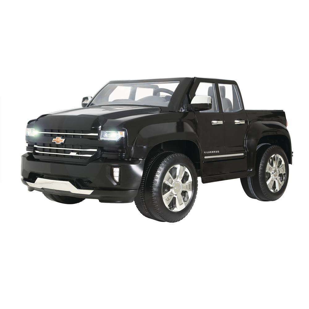 Chevy Silverado 12-Volt Battery Ride-On Vehicle in Black