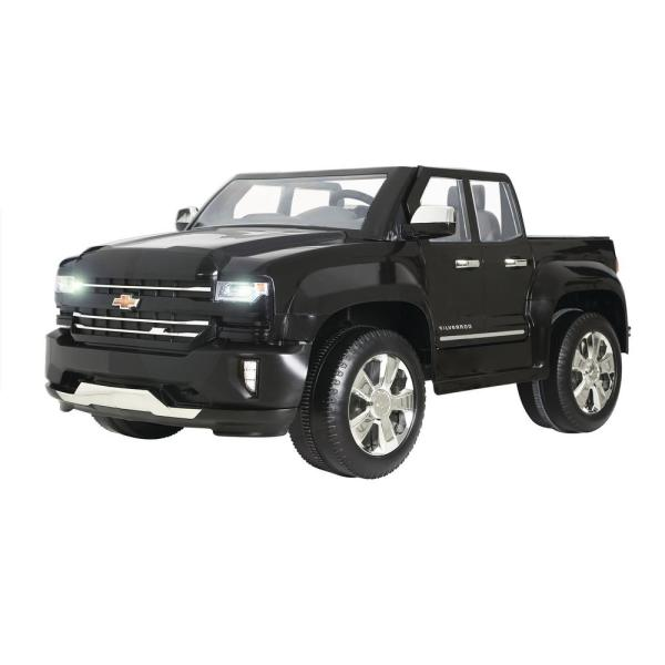 Chevy Silverado 12-Volt Battery Ride-On Vehicle in Black