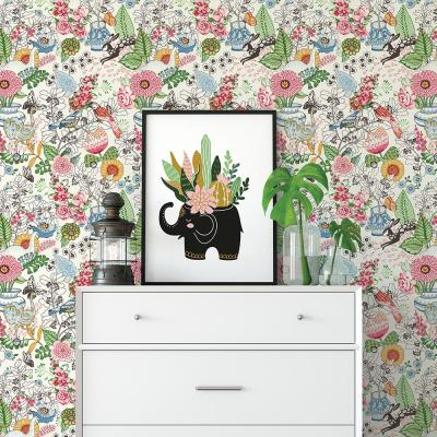 56.4 sq. ft. Whimsy Multicolor Fauna Wallpaper