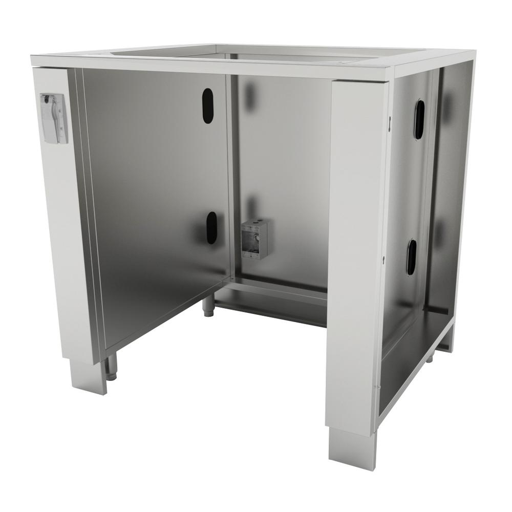 Stainless Steel Outdoor Kitchen Cabinet Doors: 4 Life Outdoor Stainless Steel Insert BBQ Grill 40x35x23.5
