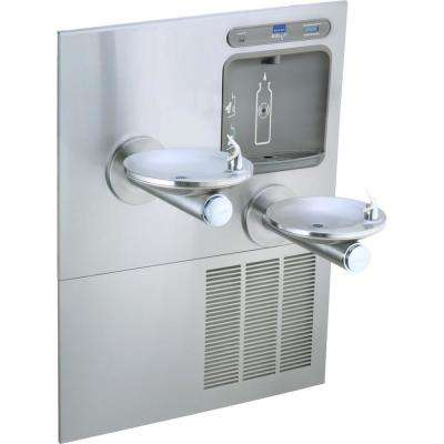 Filtered 8GPH EZH2O Integral SwirlFlo Stainless Steel Drinking Fountain with Bottle Filling Station