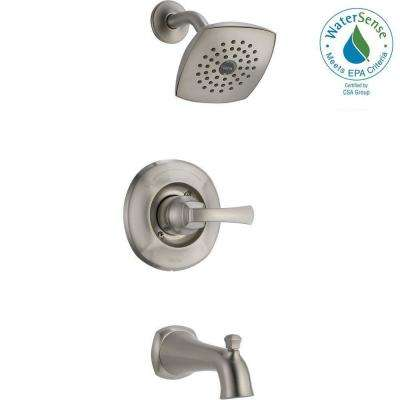 mandara single handle 1 spray tub and shower faucet in brushed nickel valve - Delta Bath Faucets Home Depot