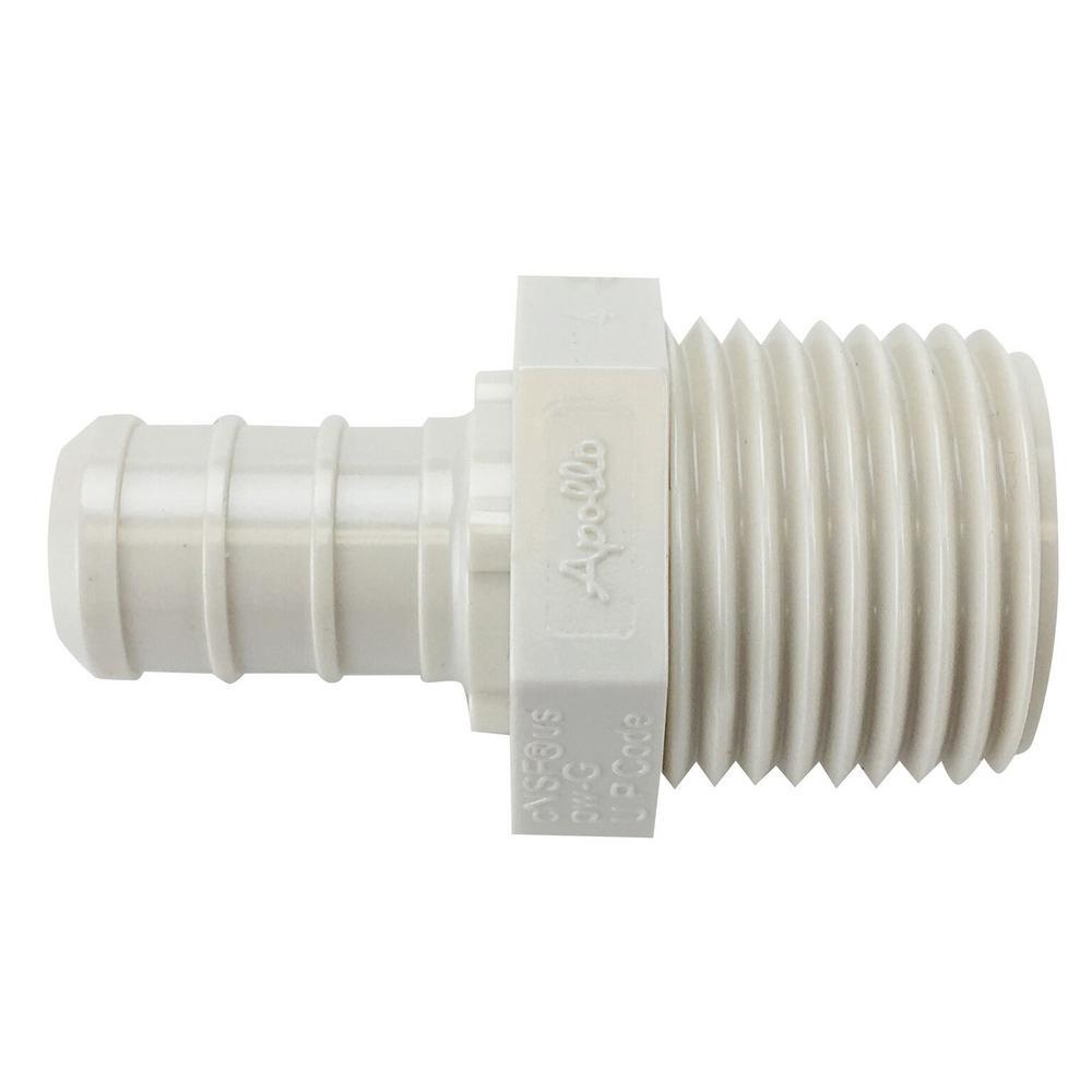 1/2 in. Plastic PEX Barb x Male Pipe Thread Adapter Jar (40-Pack)