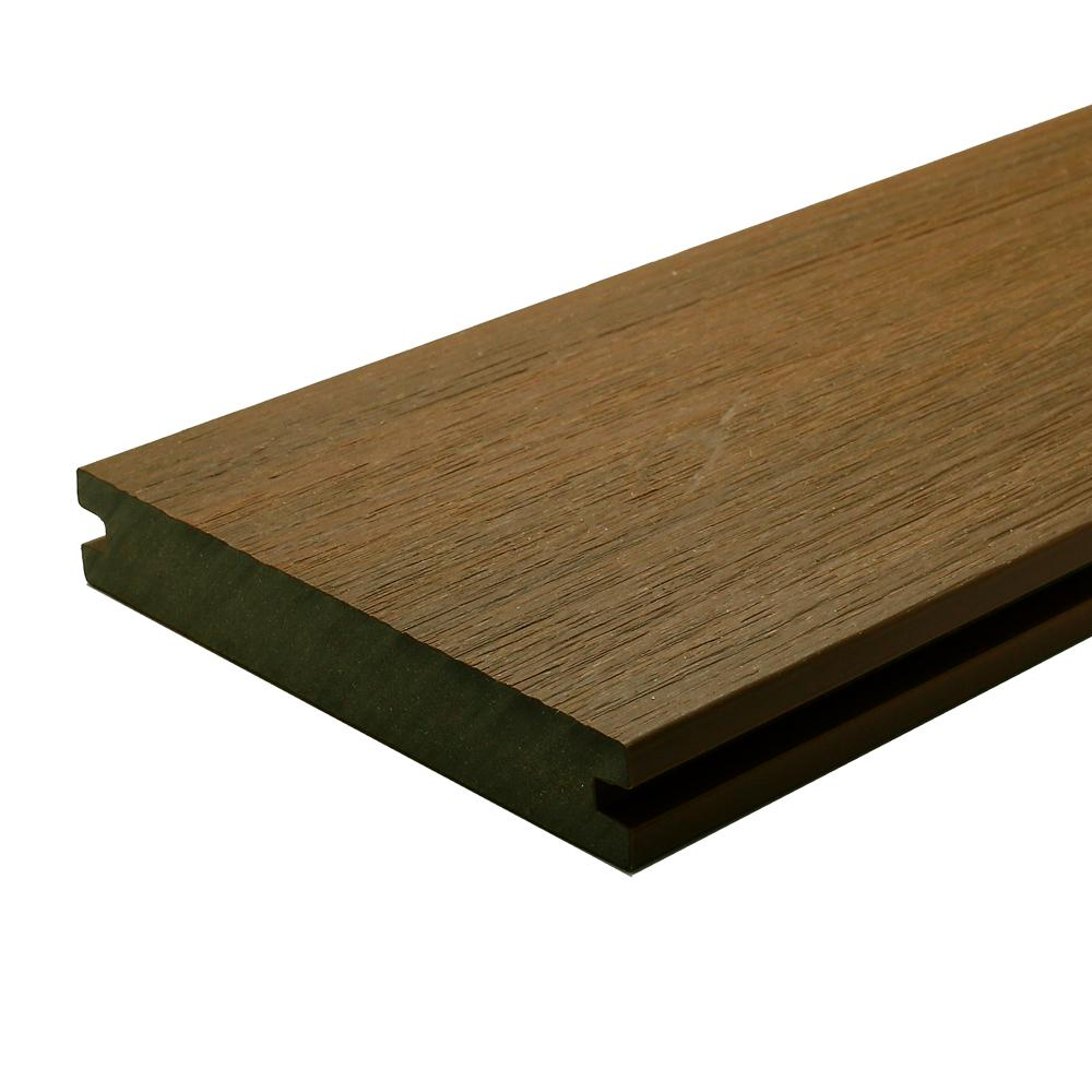 NewTechWood UltraShield Naturale Magellan 1 in. x 6 in. x 4 ft. Peruvian Teak Solid with Groove Composite Decking Board (4-Pack)
