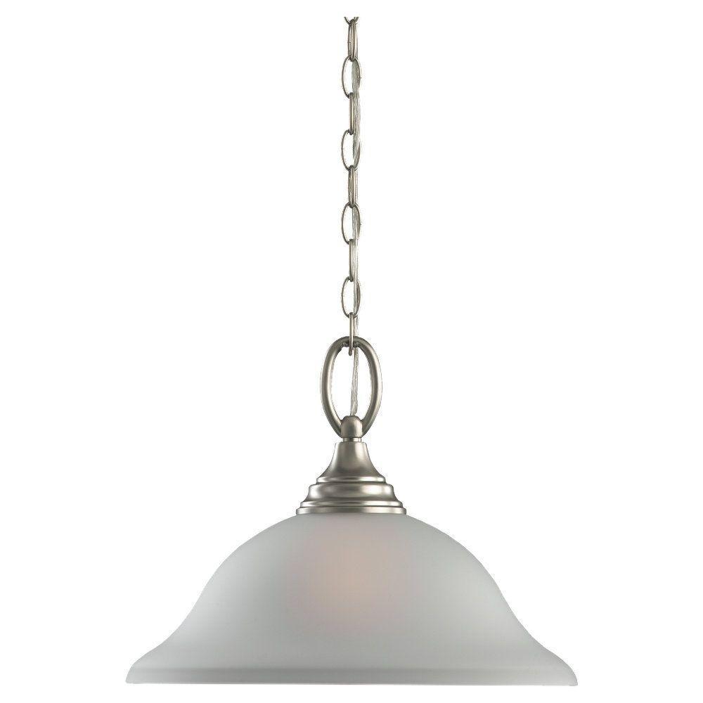 Sea Gull Lighting Wheaton 1-Light Brushed Nickel Pendant