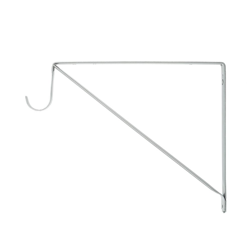 Everbilt 9.5 in. x 11 in. x 0.87 in. Platinum Shelf and Rod Bracket