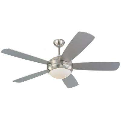Discus 52 in. Brushed Steel Silver Ceiling Fan