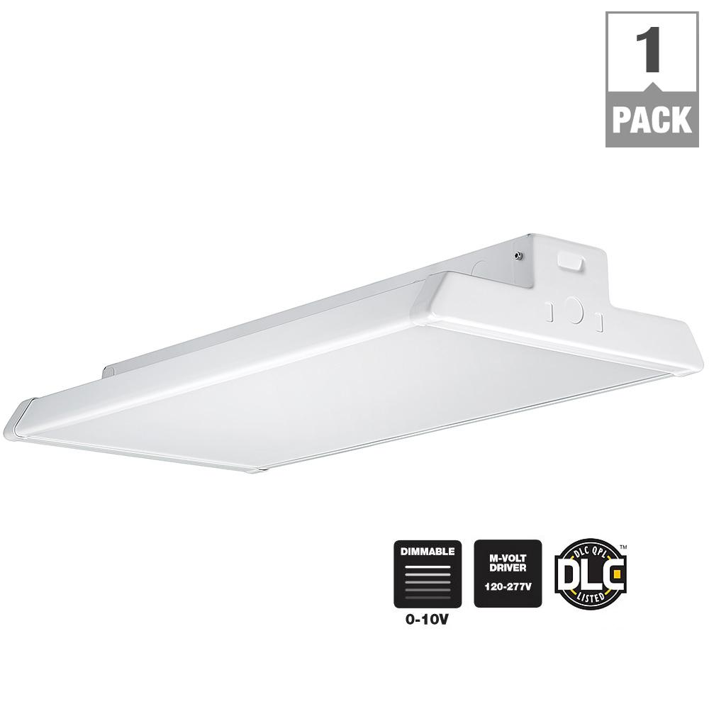Commercial Electric 11 In Low Profile White Led Square