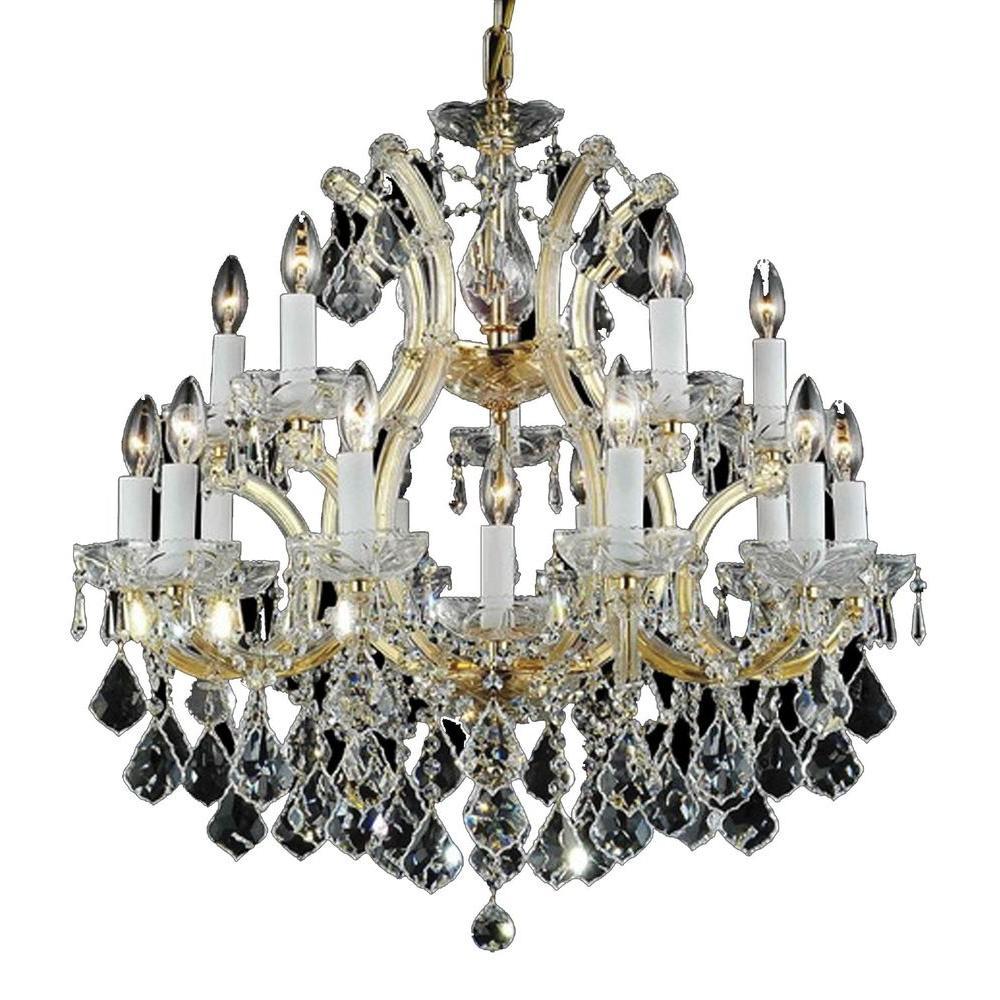 Filament Design Xavier 16-Light Crystals Incandescent Ceiling Chandelier