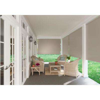 Coolaroo - Cordless Spring Operated Exterior Roller Shade - 96 in. W x72 in. L, Oatmeal