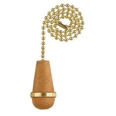 Natural Wooden Knob Pull Chain