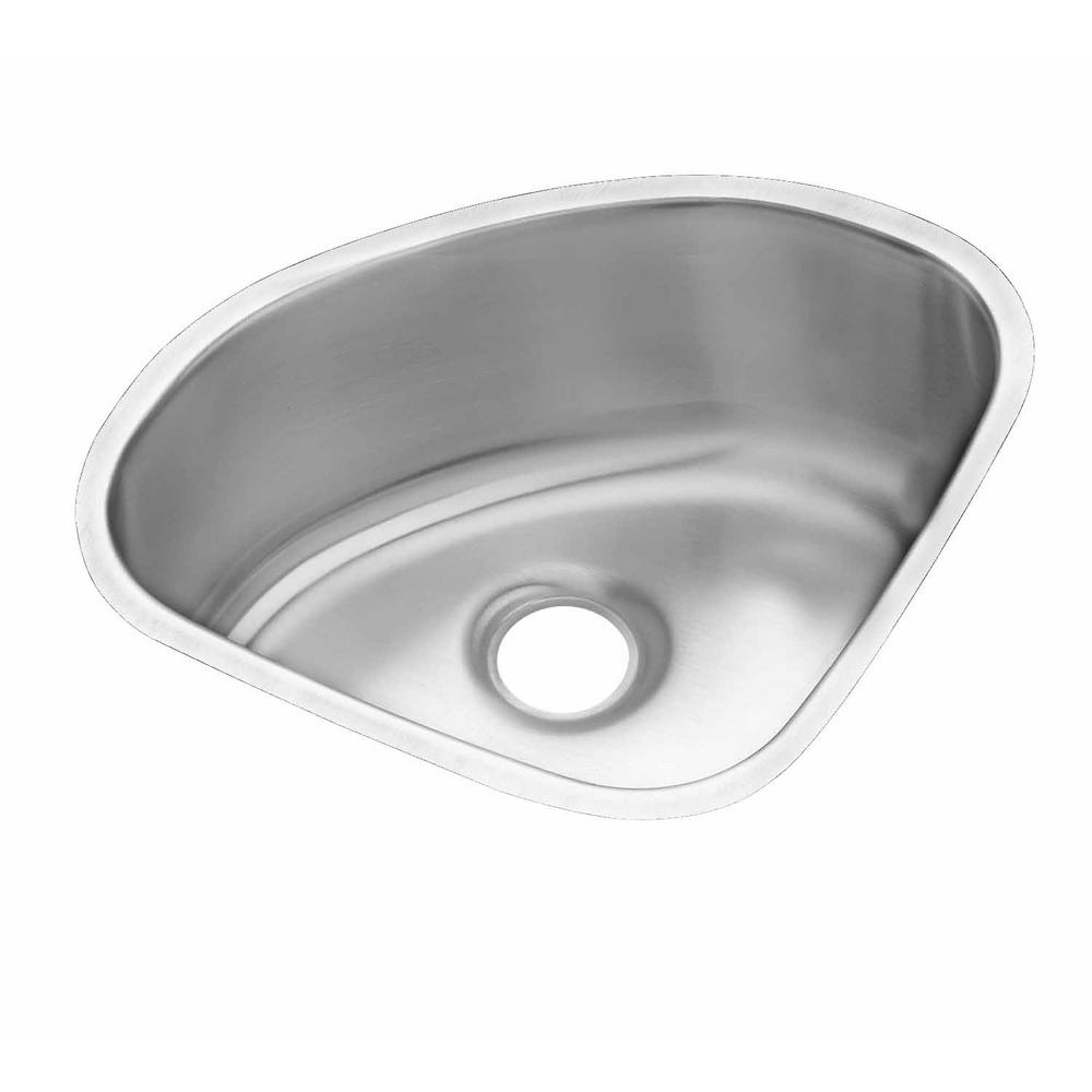 Attirant Elkay Lustertone Undermount Stainless Steel 14 In. Corner Single Bowl  Kitchen Sink