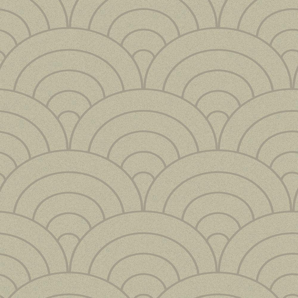 The Wallpaper Company 56 sq. ft. Grey Modern Spiral Wallpaper