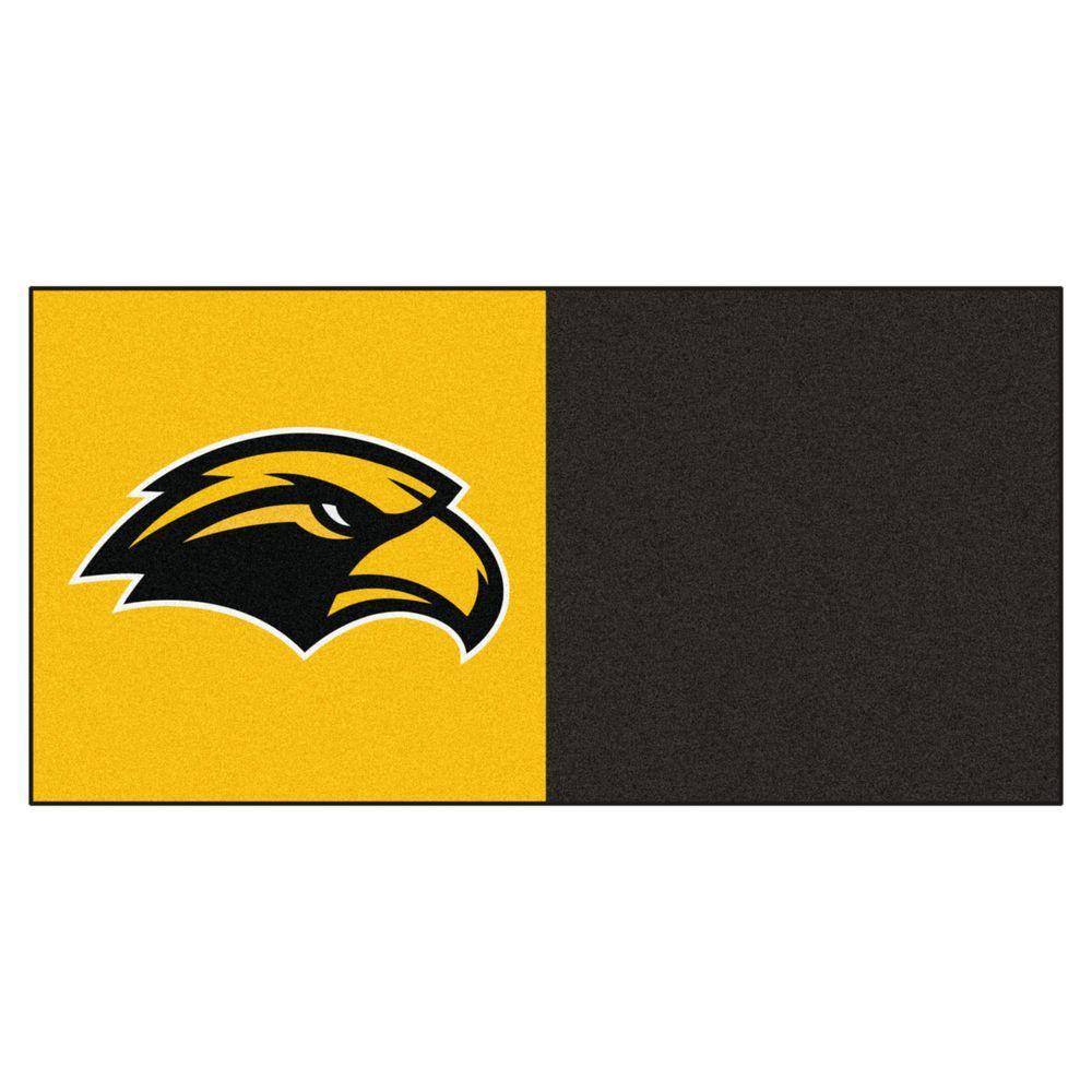 NCAA - University of Southern Mississippi Yellow and Black Pattern 18