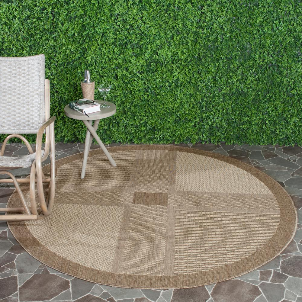 Courtyard Brown/Natural 5 ft. 3 in. x 5 ft. 3 in.
