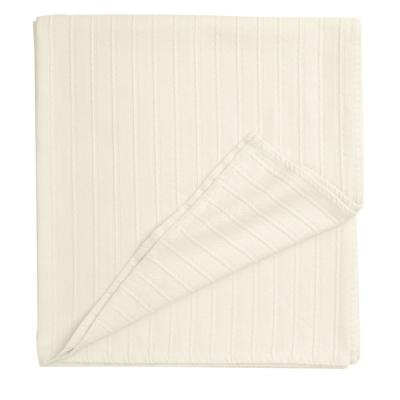 Legends Egyptian Cotton Ivory Woven Throw Blanket