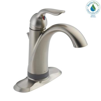 Lahara 4 in. Centerset Single-Handle Bathroom Faucet with Touch2O Technology in Stainless