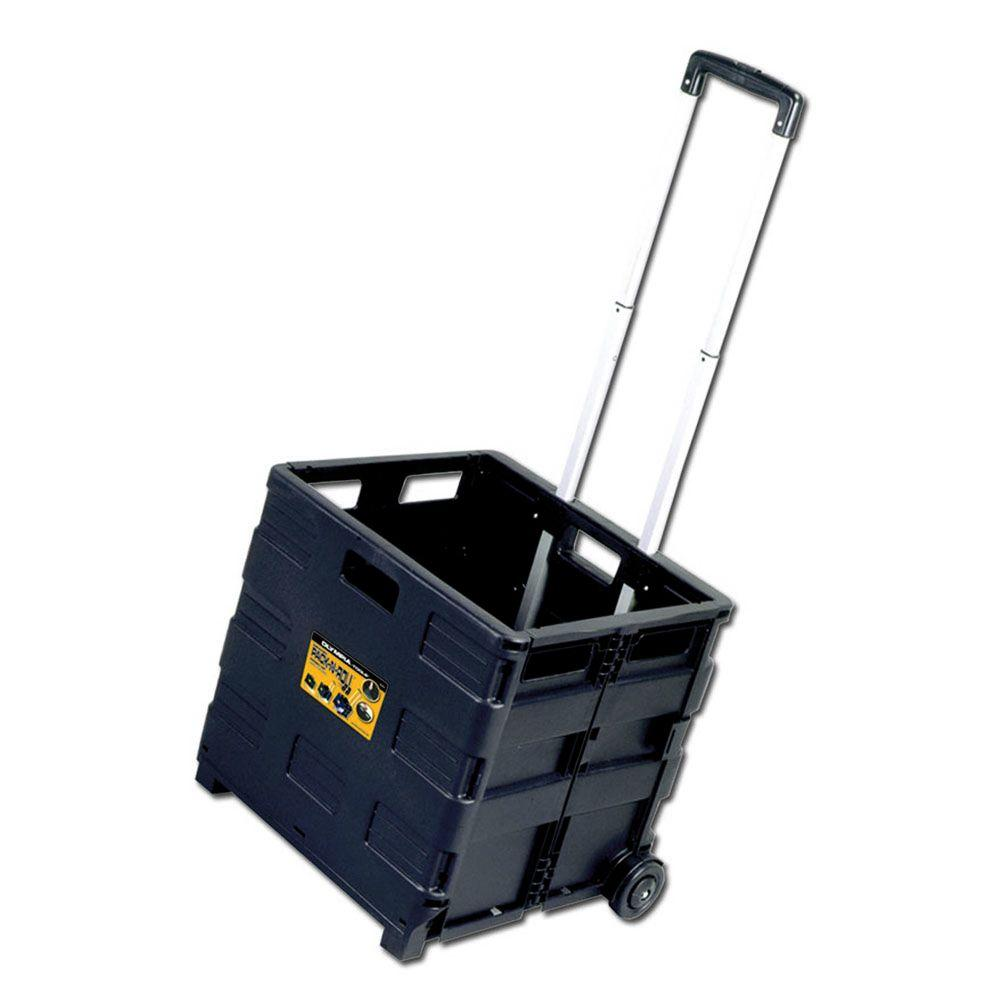 Olympia Grand Pack-N-Roll 18 in. Folding Utility Cart, Black