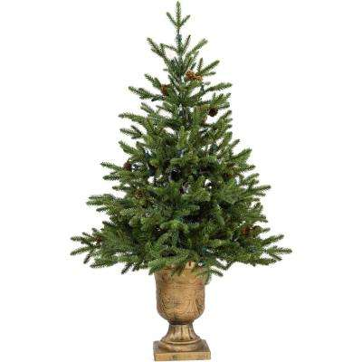 3 ft. Noble Fir Artificial Tree with Metallic Urn Base
