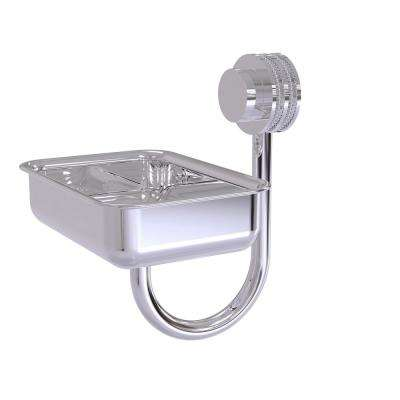 Venus Collection Wall Mounted Soap Dish with Dotted Accents in Polished Chrome