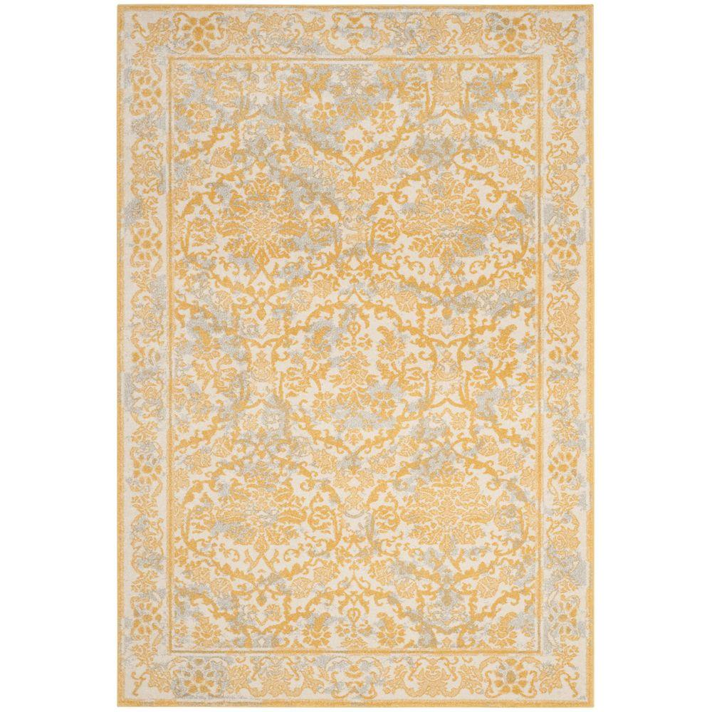 Large Area Rugs Gold: Safavieh Evoke Gray/Ivory 5 Ft. 1 In. X 7 Ft. 6 In. Area
