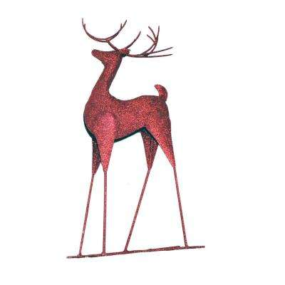 20 in. Metal Standing Reindeer