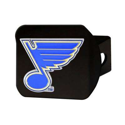 NHL St. Louis Blues Color Emblem on Black Hitch Cover