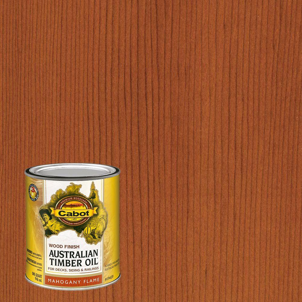 Cabot 1 qt. Mahogany Flame Australian Timber Oil Exterior Wood ...