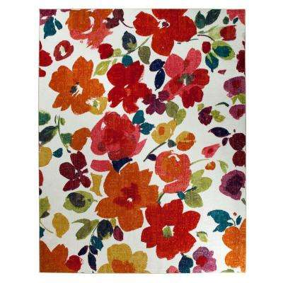 Bright Floral Toss Multi 5 ft. x 8 ft. Area Rug