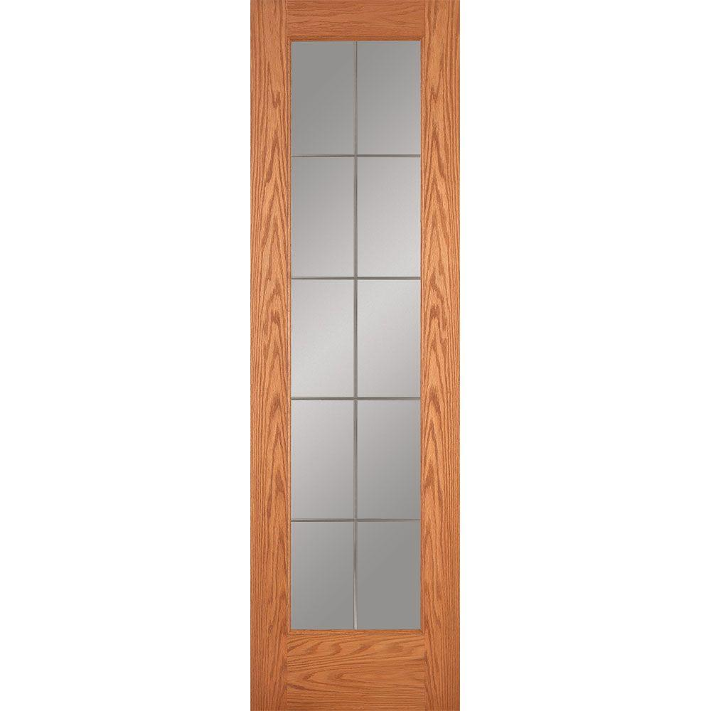 Feather River Doors 24 In X 80 10 Lite Illusions Woodgrain Unfinished Oak